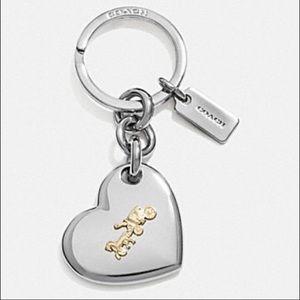 🌷NWT Coach Heart Key Chain